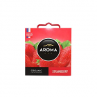"Autóillatosító, 40 g, AROMA CAR ""Organic strawberry"" (KHT667)"