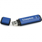 "Pendrive, 4GB, USB 3.0, 80/12MB/s, titkosítással, KINGSTON ""DTVP 3.0 Management Ready"", kék (UK4GDTVP)"
